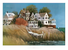 Albert Swayhoover Cottages by the Sea Print
